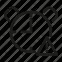 alert, clock, time, timer, warning, watch icon