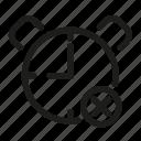 alarm, cancel, clock, remove, schedule, time, timer icon