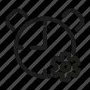 alarm, setting, time icon