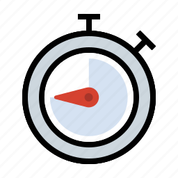 date, stopwatch, time, timer icon