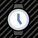 date, time, watch, wristwatch icon