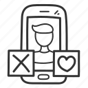 app, date, dating, love, mobile, phone icon