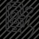 app, dating, heart, like, love, valentine icon