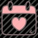 calendar, date, dating, event, schedule, valentine icon