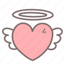 flying, heart, love, romance, valentine icon