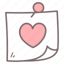 calendar, date, heart, love, pin icon