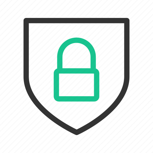 lock, protection, safety, shield icon
