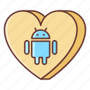 android, app, dating icon