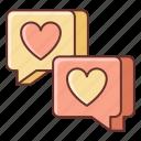 chatting, communication, dating icon