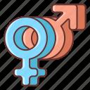 dating, gender, sex icon