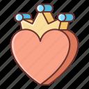 heart, king, love