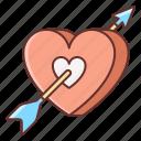 arrow, love, with