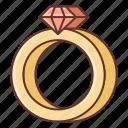 dating, diamond, ring icon