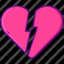 broken, heart, unlike icon