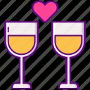 dating, drinks, heart
