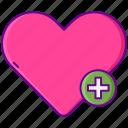 heart, interest, love icon