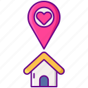love, place, wedding icon