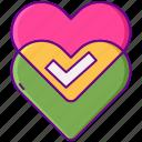 like, love, match icon