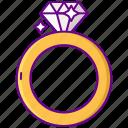 diamond, jewel, ring
