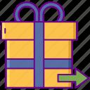 a, gift, present, send