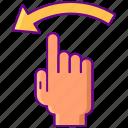 arrow, left, swipe