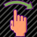 arrow, direction, right, swipe