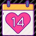 calendar, date, day, valentines