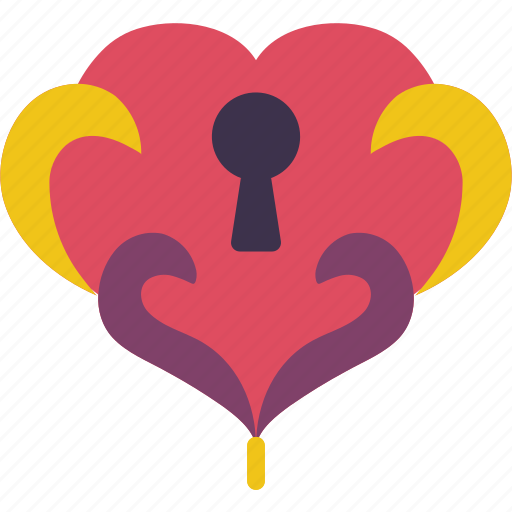 day of the dead, dead, heart, locked, mexican, mexico, tradition icon