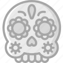 day of the dead, dead, mask, mexican, mexico, scull, skull icon