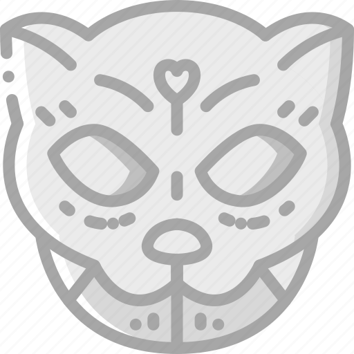 cat, day of the dead, dead, mexican, mexico, scull, tradition icon