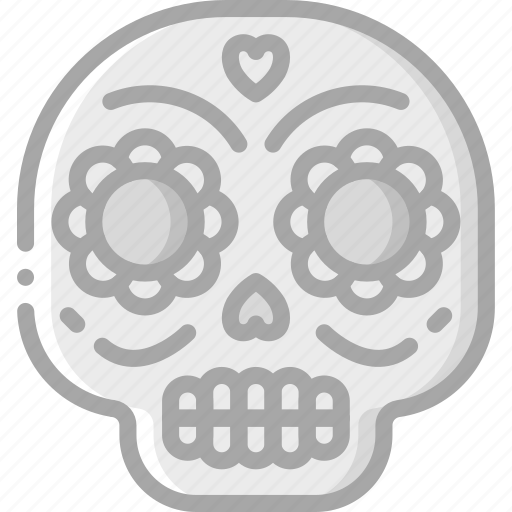 day of the dead, dead, mexican, mexico, scull, skull, tradition icon