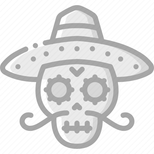 day of the dead, dead, mexican, mexico, scull, skull, tradition icon