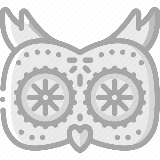 day of the dead, dead, mexican, mexico, owl, scull, tradition icon