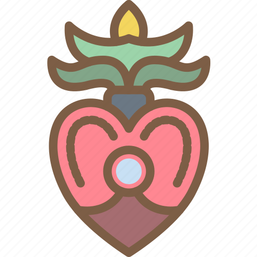day of the dead, dead, heart, mexican, mexico, tradition icon