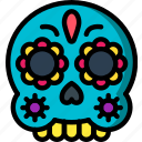 mexican, skull, mexico, day of the dead, mask, dead, tradition icon
