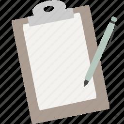 checklist, clipboard, notes, work icon