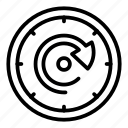 arrow, circle, circular, clock, element, time, web icon
