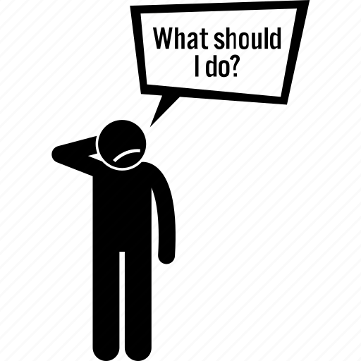 asking, man, question icon