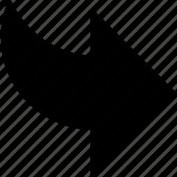 arrow, follow, forward, next, redo, right icon
