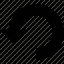 arrow, back, ccw, left, refund, rotate, undo icon