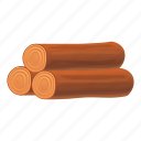 food, nature, roll, stack, tree, wood