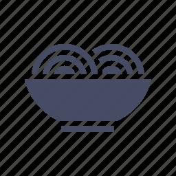 bowl, chinese, eat, food, italian, noodles, spaghetti icon