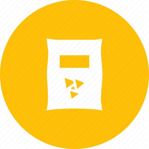 chips, food, junk, nachos, packet, snack, spicy icon