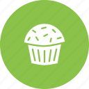 cake, confectionery, dessert, muffin, sugar, sweet, treat icon