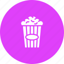 cinema, corn, movie, pop, snack, theater icon