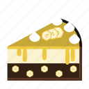 banana, cake, cake piece, chocolate, dessert, food, sweets icon