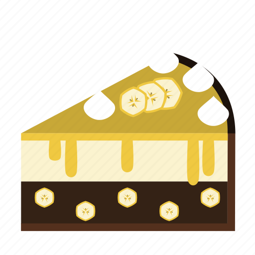 banana, cake, cake piece, chocolate, dessert, food, sweets icon
