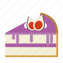 bakery, cake, cake piece, dessert, fig, food, sweets icon