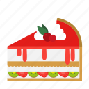 bakery, cake, cake slice, dessert, food, fruit, sweets icon