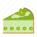 bakery, cake, cake piece, dessert, food, kiwi, sweets icon